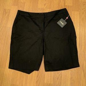 Nwt  black bermuda shorts